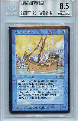 Magic The Gathering ~ 1x  Merchant Ship ~ Arabian Nights ~ M//NM