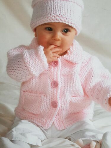 chunky 16-25inch  cardigan//jacket sweater//crossover cardi and hat  024