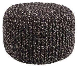House-by-John-Lewis-Chunky-Knit-Pouffe-H35-x-Dia-50cm-Steel-A