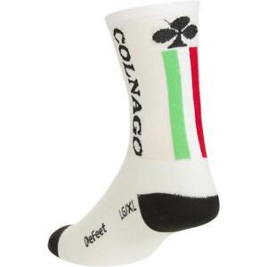 New-White-Colnago-Road-Bike-Cycling-Socks-Tall-14mm-Small-Medium