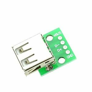 5 PCS Type A Female USB To DIP 2.54MM PCB Board Adapter Converter For Arduino