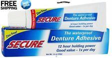 Bioforce Secure Denture Adhesive Waterproof - 1.4 Oz *4 Pack* Free Shipping