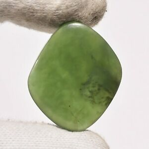 35 Ct. Natural Nephrite Jade Fancy Cabochon Loose Gemstone For Jewelry ZZ-6836