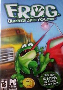 F-R-O-G-Frantic-Rush-of-Green-PC-Games-Windows-10-8-7-XP-Computer-frogger-NEW