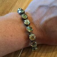 Sabika Edition Lyrical Fun Rhinestone Bling Bracelet Gold Stones
