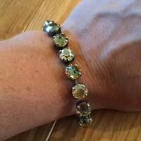 Sabika Edition Lyrical Fun Rhinestone Bling Bracelet Gold Stones
