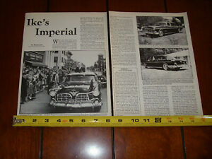 EISENHOWER-1955-CHRYSLER-CROWN-IMPERIAL-ORIGINAL-1987-ARTICLE