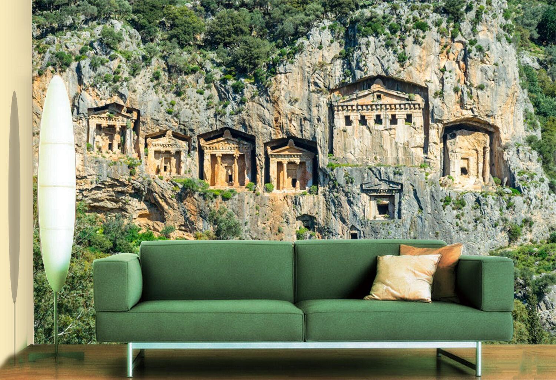 3D castello 996 Parete Murale Foto Carta da parati immagine sfondo muro stampa