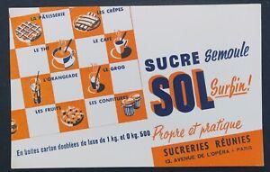 BUVARD-SUCRE-SOL-sugar-Sucreries-reunies-PARIS-blotter-Loscher