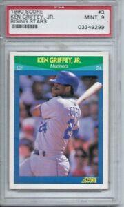 fad314a824 1990 Score Rising Stars #3 Ken Griffey, Jr. PSA 9 Mint | eBay