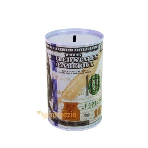 $100 Dollar Bill Piggy Bank Coin Money Saving Can Benjamin Franklin Lot of 20