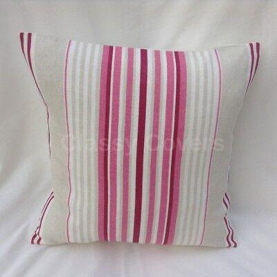 "Laura Ashley Designer Cushion Cover /""IRVING STRIPE/"" Cerise Various Sizes"