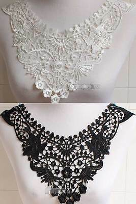 Fabric Neckline Collar Venise Lace Sewing Dress Costume Sewing Applique Trimming