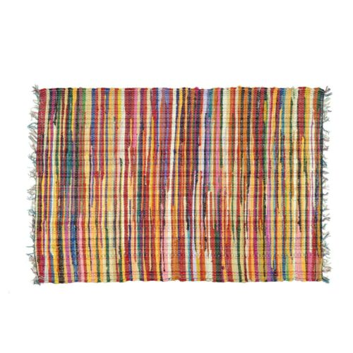 Boho Area Rugs Carpet Indian Hand Woven Home Decorative Reversible Chindi Rugs