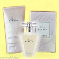 Avon Rare Pearls Set Eau De Parfum 50ml Spray + Rare Pearls Bodylotin 150ml Ovp