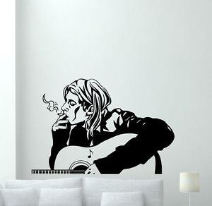 KURT COBAIN NIRVANA Vinyl Wall Art Sticker