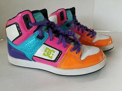 DC High Top Leather Multi-colored