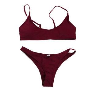 Damen-Bademode-Push-Up-Bikini-Set-Zweiteiliger-Badeanzug