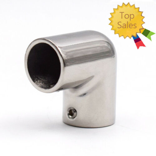 """Useful 7//8/"""" Boat Hand Rail Fitting 90 Degree Elbow 316 Stainless Steel Polished"""
