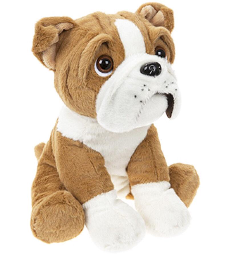 37 cm süß sitzender Britisch Englisch Bulldog Hund Welpe Teddybär super
