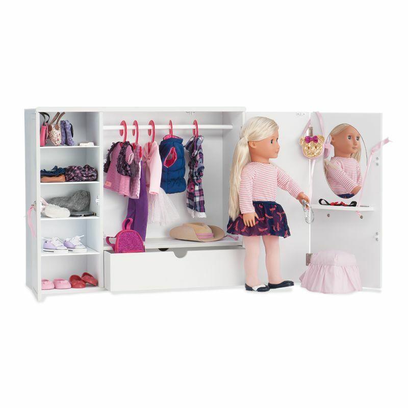 Nuevo our generación og-armario de madera accesorios muñecas  349