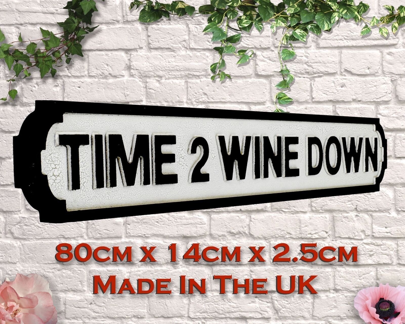 Time To Wine Down Vintage Road Sign   Street Sign
