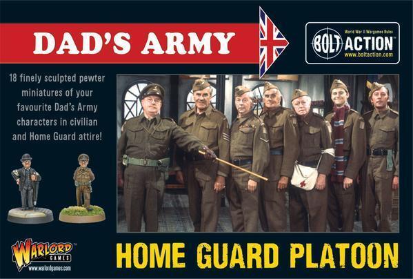 1 56 Scala 28MM - DAD'S ARMY Home  Guard Plotone (18) Bolt Azione - Warlord giocos  negozio all'ingrosso