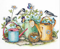 Cross Stitch Kit Dimensions Birds, Butterflies & Watering Cans 70-03243