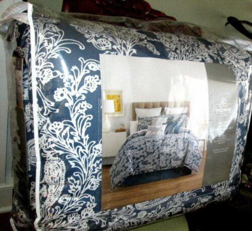 JCPENNEY HOME $240 Full Comforter Set 4p FARMHOUSE BLUE FLORAL