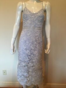 0972c387 Image is loading Bardot-Vienna-Lace-Overlay-Blue-Sz-10-Dress-