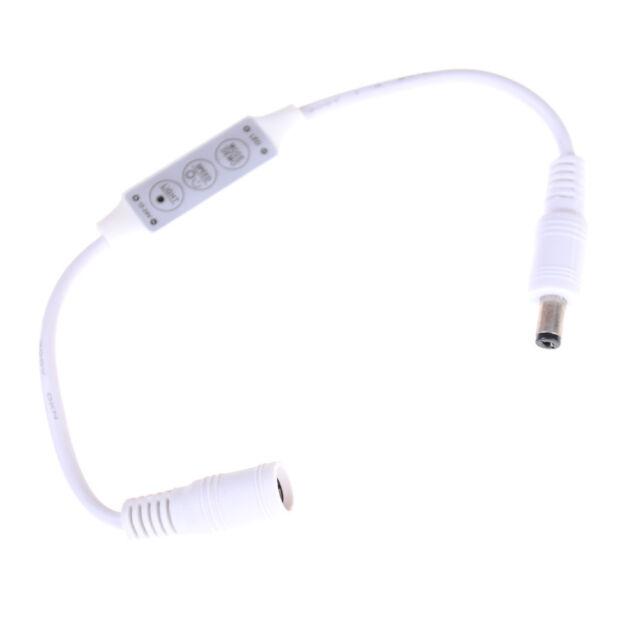Mini 3 Key Dimmer Controller Adapter For Single Color 3528 5050 LED Strip Lignw