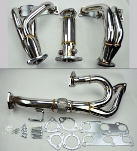 VQ35DE-V6-Exhaust-Manifold-Headers-Downpipe-Test-Pipe-FITS-Nissan-Altima-3-5L