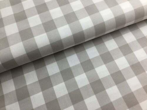Baumwollstoff Maxi Karo Westfalenstoffe beige Karo auf weiß Vichy Karo