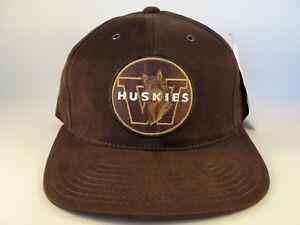 Washington-Huskies-NCAA-Vintage-Strapback-Hat-Cap-American-Needle-Brown