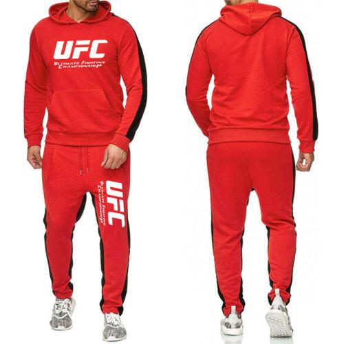 UFC Tracksuit Set Hoodie Trousers Sweatshirt Pullover Pants Jogging Sportwear UK