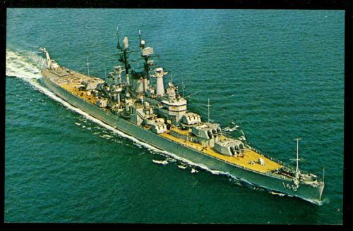 USS Newport News CA-148 postcard  US Navy ship heavy cruiser