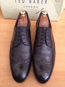 Business-schuhe Rrp£135 Mild And Mellow Schnelle Lieferung Ted Baker Gryene Black Leather Brogue Shoe Uk 11 Herrenschuhe