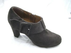 Euro-Soft-by-Sofft-9-5M-brown-suede-ankle-booties-Womens-heels-Shoes-3150523