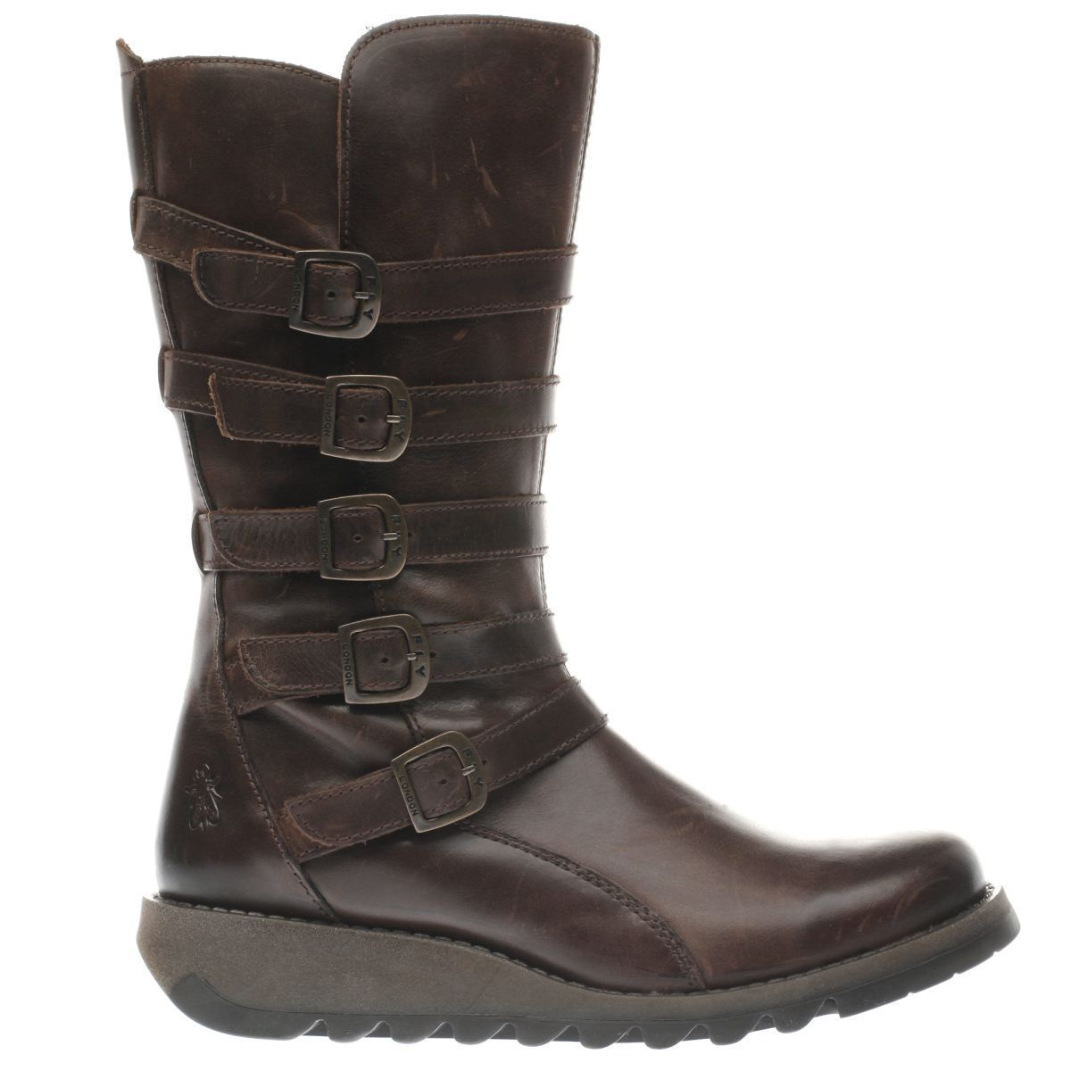 Fly London Seca Brown Mid Height Boots