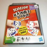 Yahtzee Hands Down Card Game Family Ages 8 And Up 2009 Hasbro Fun Travel Sealed