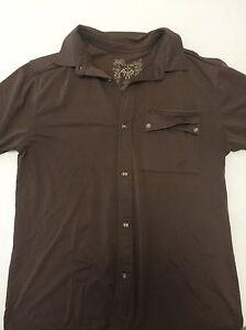 prAna-Brown-cotton-short-sleeve-shirt-Men-039-s-S