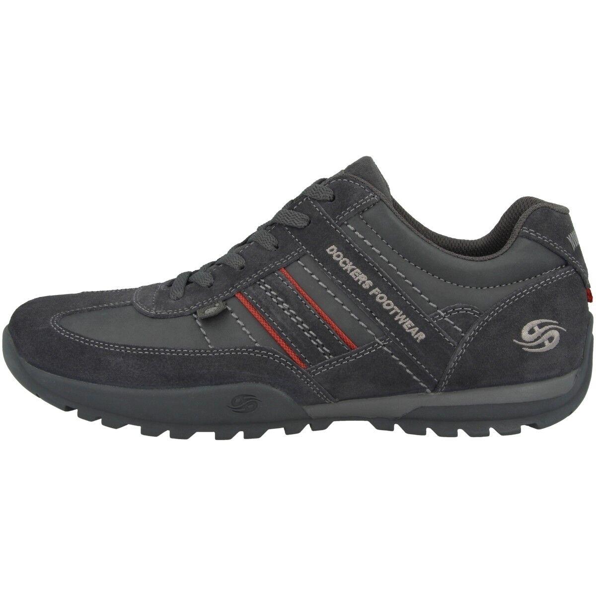 Dockers by Gerli 36HT001 Schuhe Schnürer Herren Sneaker Schnürer Schuhe asphalt 36HT001-204230 a88a8b