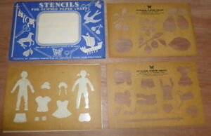 Vintage-Stencils-for-gummed-paper-from-60-039-s-by-Butterfly-Brand
