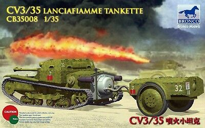 BRONCO CB35008 1//35 CV3//35 Launciafiamme Tankette
