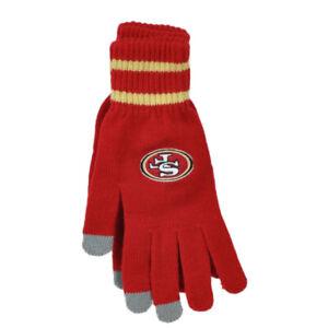 Détails sur NFL San Francisco 49ers Rouge Gants Taille Unique Football Hiver Hommes