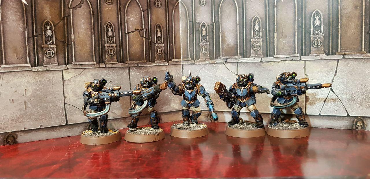 Militarum Tempestus Scions målade förpackning 2 Warhammer 40k