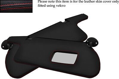 RED STITCH FITS HONDA PRELUDE 92-96 4TH GEN 2X SUN VISORS LEATHER COVERS