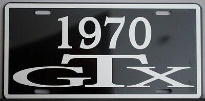 1970 70 GTX METAL LICENSE PLATE PLYMOUTH B BODY 440 SIX PACK 426 AIR GRABBER