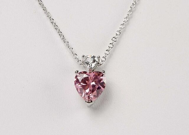 Avon fancy shape cz and trillion pink heart pendant necklace ebay new avon pink heart fancy shape cz and trillion pendant necklace 1718 mozeypictures Gallery