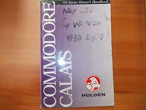 holden commodore vs owners manual s n v6137 ebay rh ebay com au holden commodore owners manual pdf Mitsubishi Magna